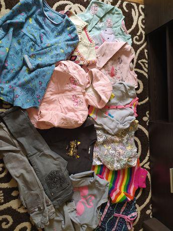 Пакет теплых вещей одежды на девочку 4-5-6 лет 110 116  р.