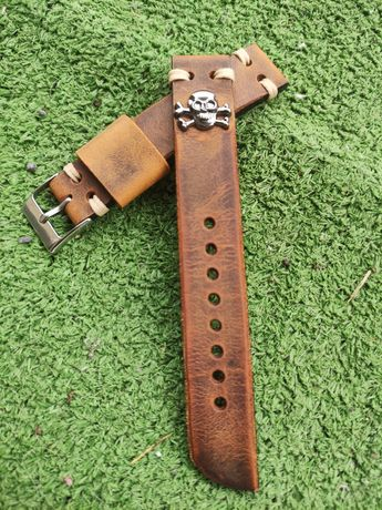Na sprzedaż pasek do zegarka szerokość 18 mm, handmade, skóra, nowy