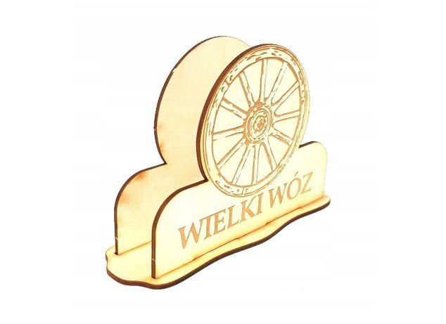 Serwetnik drewniany z logo firmy do restauracji Grawer Logo Firmy Bar