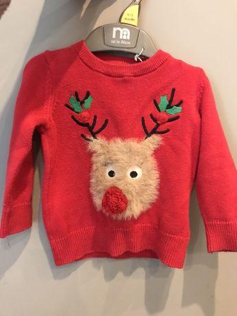 Новогодний свитер на малыша 6-9 мес