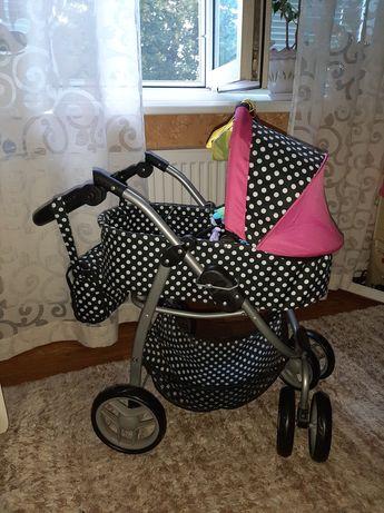 Польская красивая коляска для кукол Mario 4в1 + ПОДАРОК
