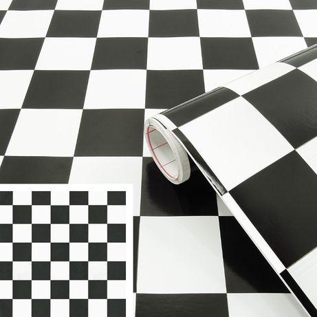 Okleina meblowa folia samoprzylepna szachownica szer 45cm