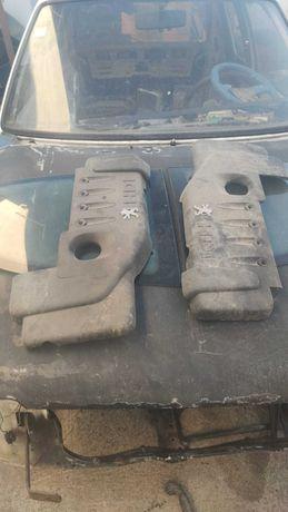 Tampas de Motor, vidros traseiros, pega de mala Peugeot 206