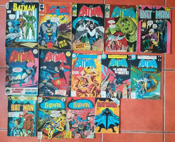 14 Livros Batman da Ebal, Abril e Agência Portuguesa de revistas