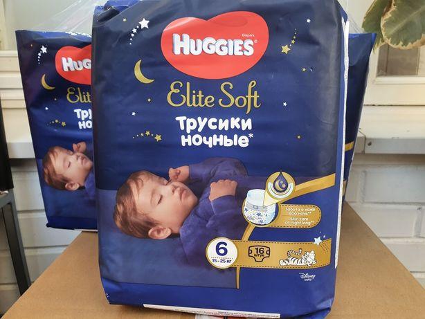 Трусики-подгузники Huggies Elite Soft Overnites 6 (15-25 кг) 16 шт
