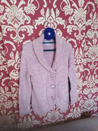 Swetr pudrowy róż roz. L-XL j. Nowy