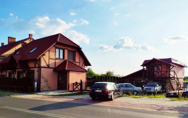 Dom(140m2)+biuro(50m2)+garaż+dzialka (1700m2)+stacja solarna-10kW