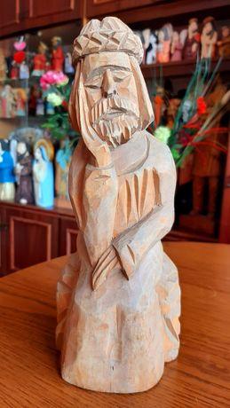 Chrystus frasobliwy rzeźba ludowa