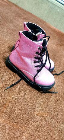 Buciki rozowe dziewczece
