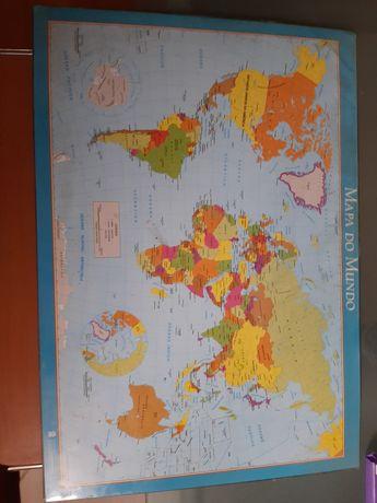 Mapa do mundo para secretária