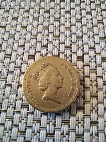 Sprzedam monetę ONE POUND rok 1986