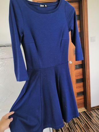 Granatowa rozkloszowana sukienka sinsay xs