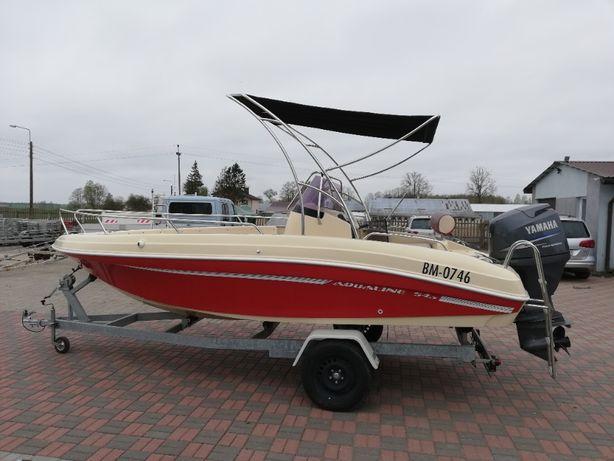 łódź motorowa motorówka Aqualine 545 z silnikiem YAMAHA 100 KM