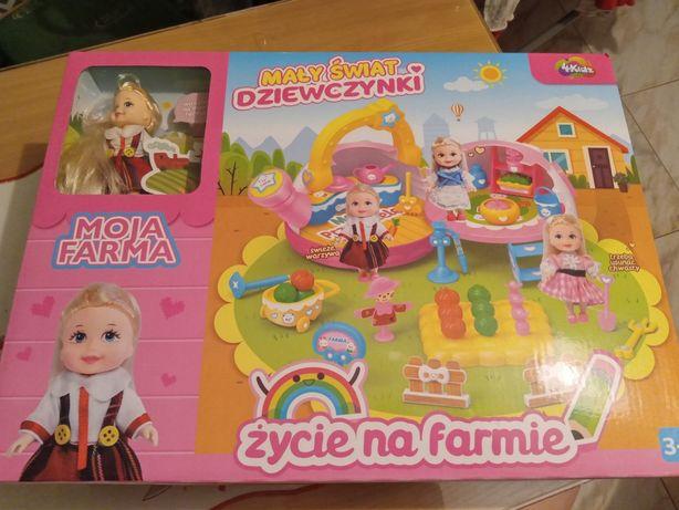 Świat małej dziewczynki moja farma domek dla lalek życie na farmie