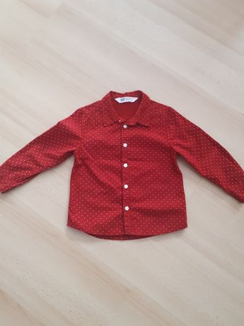 Koszula czerwona hm r.98 2-3 lata