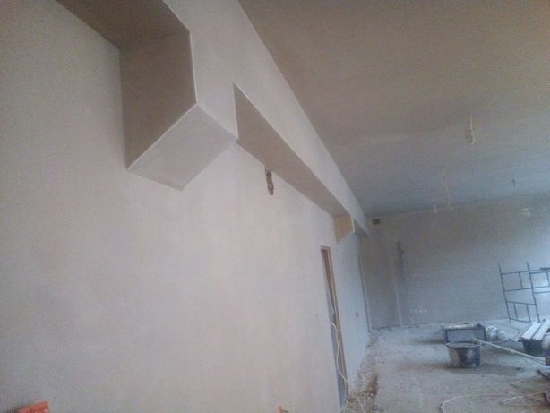 Tynki maszynowe gipsowe cementowo- wapienne usługi budowlane