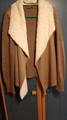 Narzutka sweter orsay kożuszek m/l
