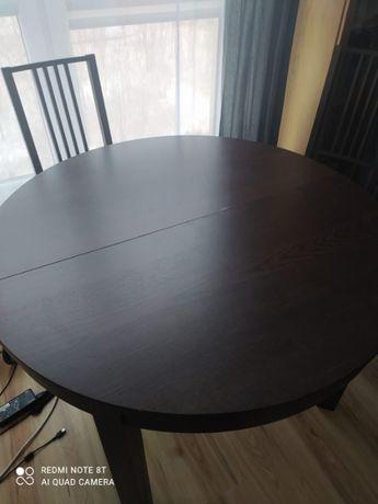 Stół rozkładany IKEA BJURSTA + 4 krzesła / stan dobry -