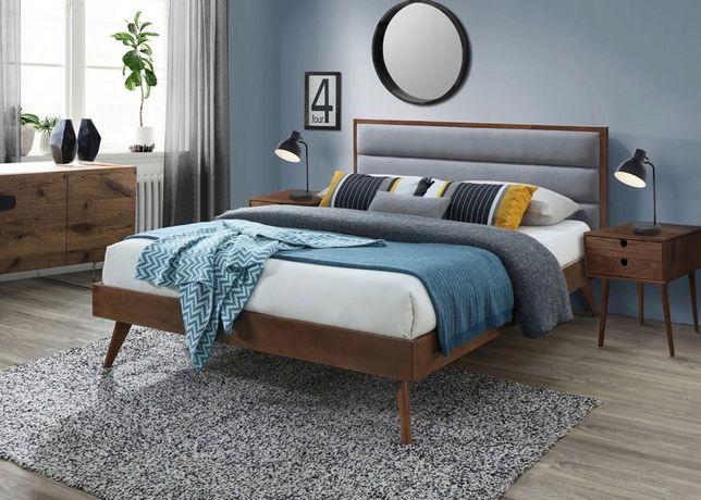 Łóżko tapicerowane/drewniane-160/200