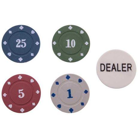 Фишки для покера в металлической коробке (100 фишек с номиналом)