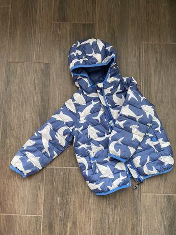 Куртка весенняя с акулами Frugi