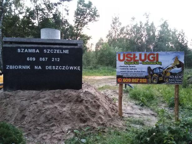 Szambo Szamba betonowe Atest Łochów Ostrówek Sadowne Stoczek  Koparka