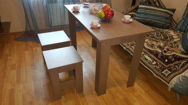 Стол письменный, кухонный, обеденный 60х120х75см.