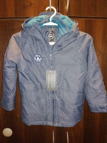 Nowa kurtka zimowa chłopięca Cool Club, r. 116