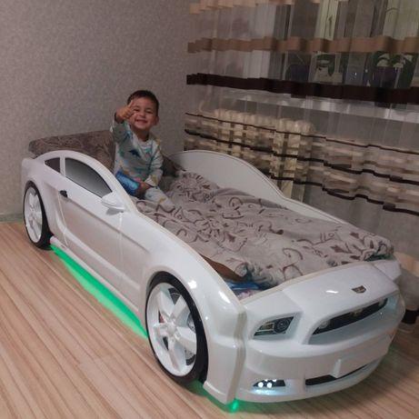 детская кровать-машина Мустанг 3D