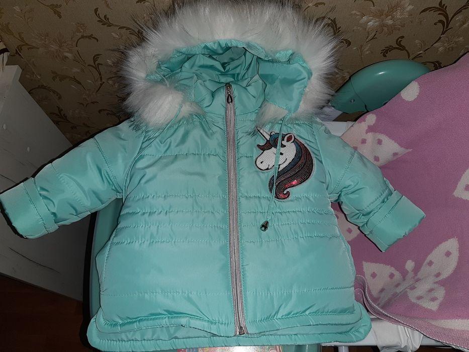 Куртка зимняя на флисе р.86 Одесса - изображение 1