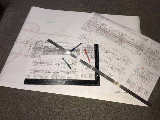 Plany, projekty, mapy, dokumentacja - druk, skanowanie, kserokopie A0