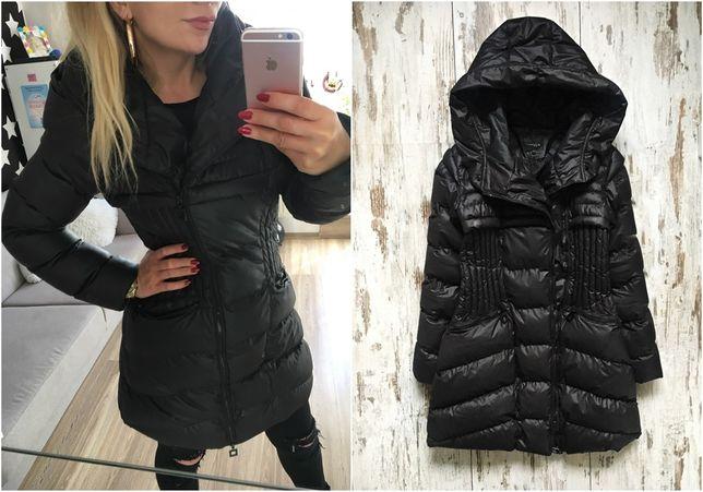 Płaszcz pikowany kurtka czarny zimowy ciepły 40 L ocieplany miss fofo