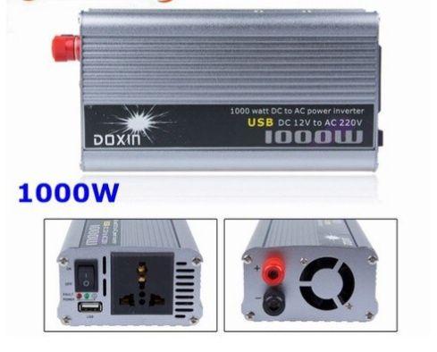 Преобразователь тока 1000w 12v-220w Инвертор