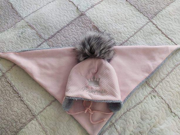 Czapka zimowa i chusta dla dziewczynki