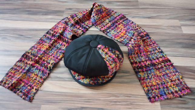 Женская шапка-картуз из шарфом