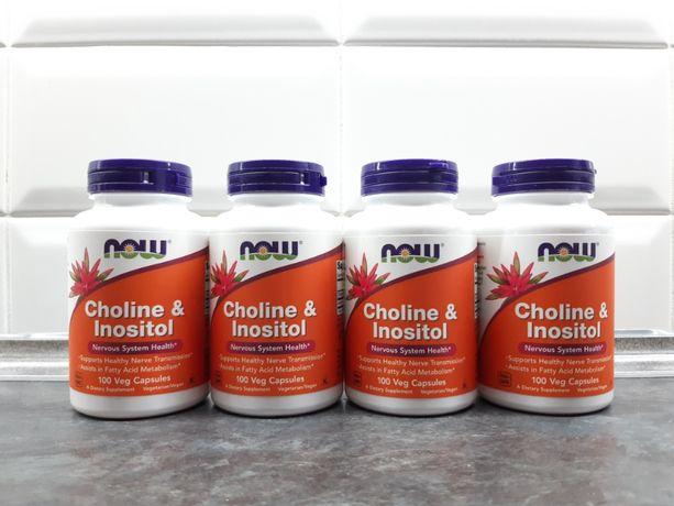 Now Foods, холин и инозитол (100 капс.), Choline + Inositol, інозитол