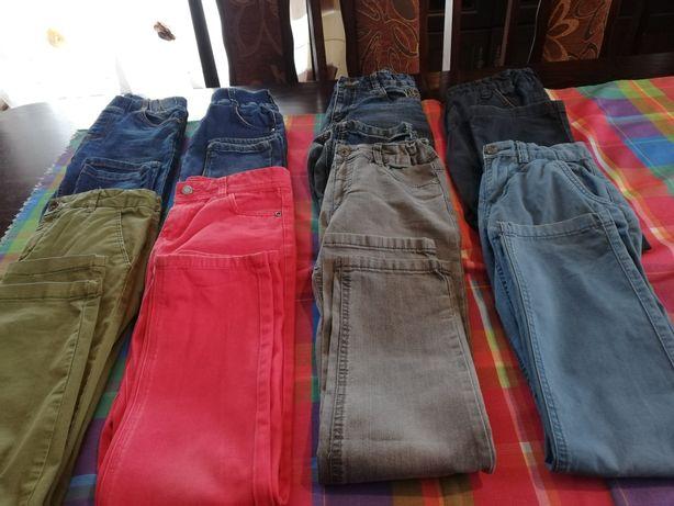 Spodnie roz  140