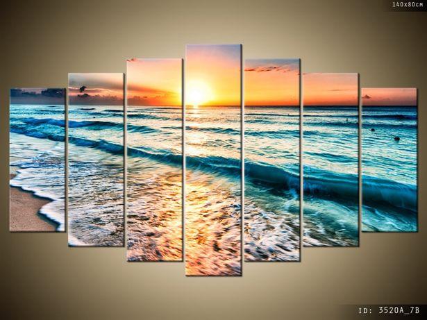 OBRAZY, Zachód słońca w Cancun, płótno Canvas, możliwe są inne układy