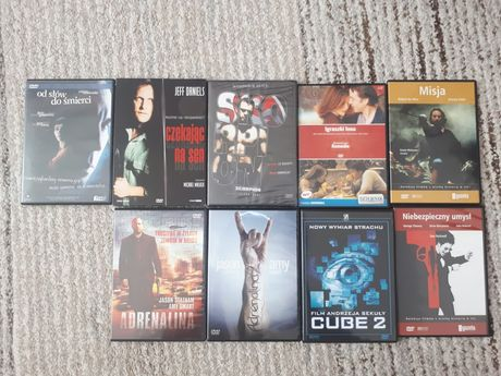 Filmy  DVD  11szt  Adrenalina 1 i 2 cube skorpion