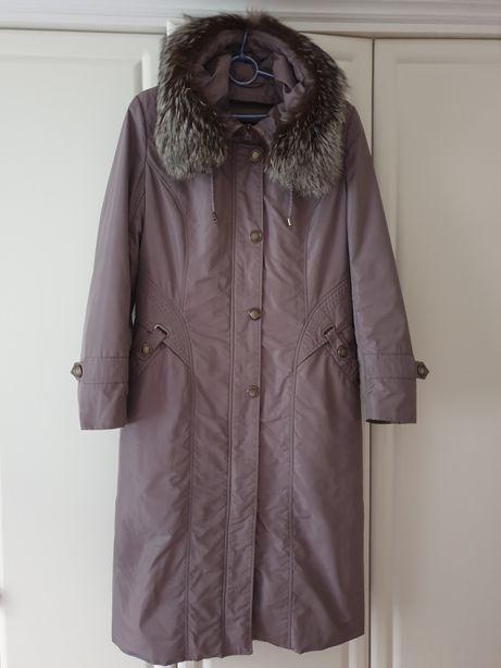 Зимнее пальто на кролиной подстёжке р.48