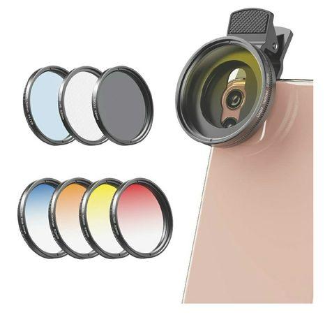 Apexel - Nd Kit de filtros para telemóvel.