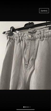 Spodnie jeansy szare zara