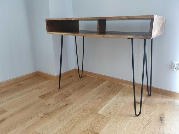 Biurko z drewna Shesham SCORPION 100x50 cm NOWE