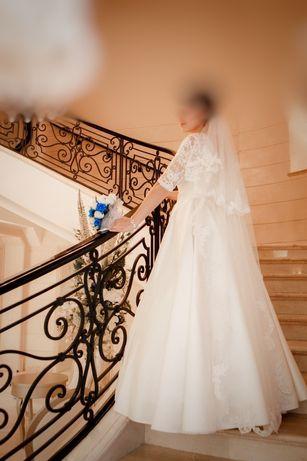 Свадебное шикарное платье + подарок