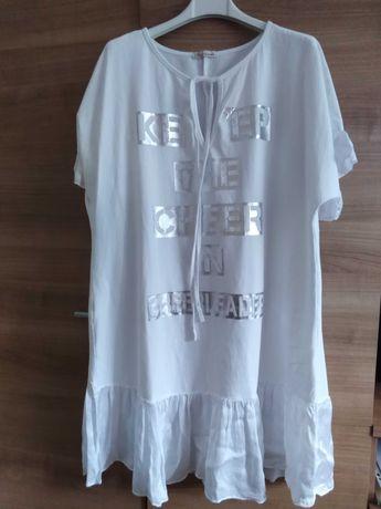 Nowa  biała sukienka na krótki rękaw