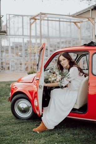 Samochód do Ślubu Fiat 500
