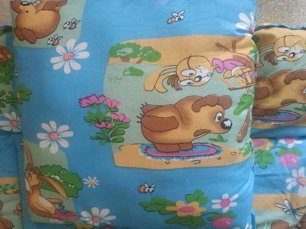 Детское одеяло и подушка для манежа
