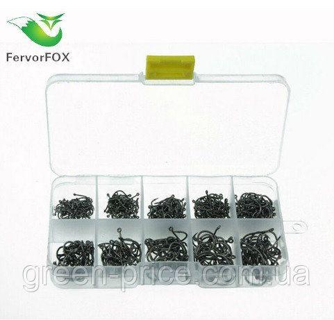 Набор рыболовных крючков «FervorFOX» 500 шт крючки для удочки рыбалки