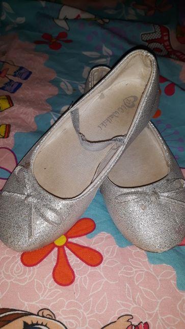 туфли,туфельки,балетки серебристые,серебро