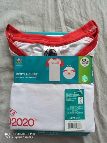 T-shirt koszulka 2 xl Biała euro 2020 bawełna